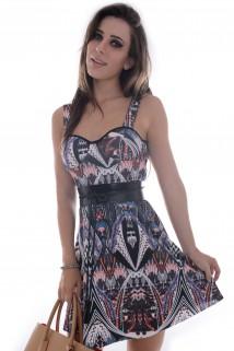 Imagem - Vestido Estampado Godê