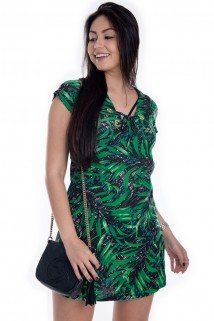 Imagem - Vestido Floral Com Ilhós