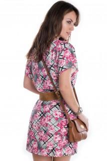 Imagem - Vestido Floral Xadrez