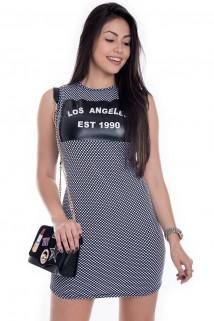 Imagem - Vestido Regata de Poá com Estampa Los Angeles