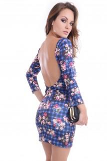 Imagem - Vestido Xadrez Floral