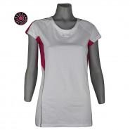Camiseta Rosa Tatuada Longuete