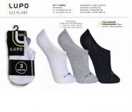 Kit C/3 Pares de Meias Lupo Sport Invisivel (34 ao 38) M