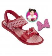 Sand�lia Grendene Infantil Disney Minnie Fashion (Com Brinde)