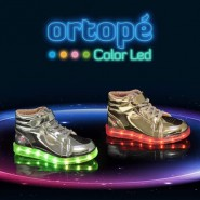 T�nis Botinha Infantil Ortop� Color LED