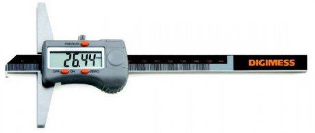 Paquímetro Digital de Profundidade com Gancho - 150mm - Leit. 0,01mm - Digimess