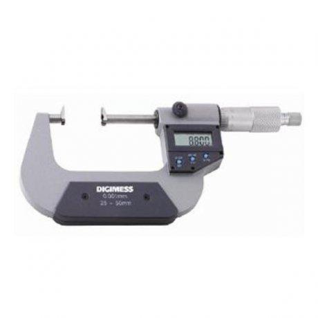 Micrômetro Externo Digital para Ressaltos e Dentes de Engrenagens - 25-50mm - Leit. 0,001mm - Digimess