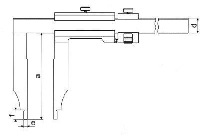 Paquímetro Universal (Bicos Longos 300mm) - 1500mm - Leit. 0,02mm - Digimess