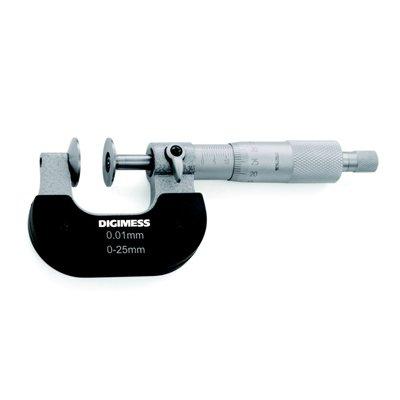 Micr�metro (Dentes de Engrenagens) - 0-25mm - Leit. 0,01mm - Digimess