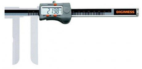 Paquímetro Digital (Bico Tipo Faca) - 22-200mm - Leit. 0,01mm - Digimess