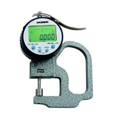 Medidor de Espessura Digital Milesimal (Arco 30mm) - 0-10mm - 0,001mm - Digimess