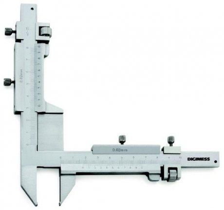 Paquímetro (Dentes de Engrenagens) - 1-25mm - Leit. 0,02mm - Digimess