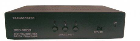 Distribuidor de Vídeo VGA/XGA com Saída Chaveada (1x3) - DSC3000 - Transcortec
