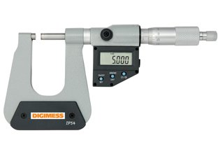 Micrômetro Externo Digital (Arco Profundo 150mm - Pontas com 1 Lado Esférico) - 25-50mm - Leit. 0,001mm - Digimess