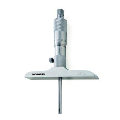 Micrômetro de Profundidade com Hastes Intercambiáveis (Bucha) - Leit. 0,01mm - 0-150mm - Digimess