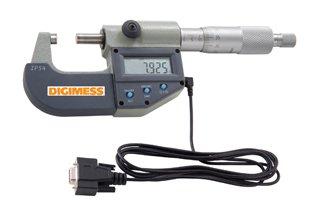 Micrômetro Externo Digital IP54 - 0-25mm com Saída de Dados RS232 - Digimess