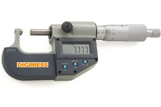 Micr�metro Externo Digital (Pontas 1 Lado Plana/ 1 Lado Esf�rica) - 25-50mm - Leit. 0,001mm - Digimess