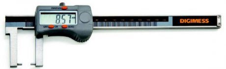 Paquímetro Digital Externo (Pontas Cilíndricas) - 200mm - Leit. 0,01mm - Digimess