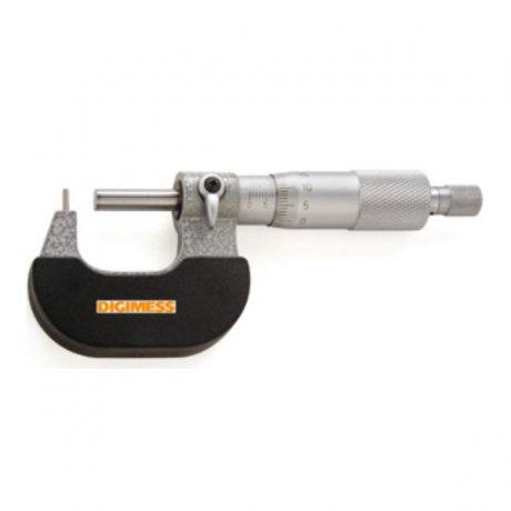 Micrômetro Externo para Tubos (Ponta Cilíndrica) - 25-50mm - Leit. 0,01mm - Digimess