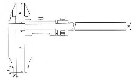 Paquímetro Universal (Orelhas de Medição Externa) - 300mm - Leit. 0,02mm - Digimess