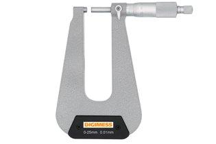 Micr�metro Externo (Arco Profundo 150mm - Pontas Planas) - 0-25mm - Leit. 0,01mm - Digimess