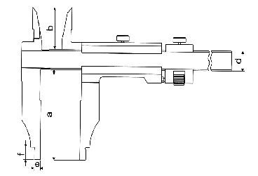Paqu�metro Universal (Orelhas para Medi��o Interna) - 400mm - Leit. 0,02mm - Digimess