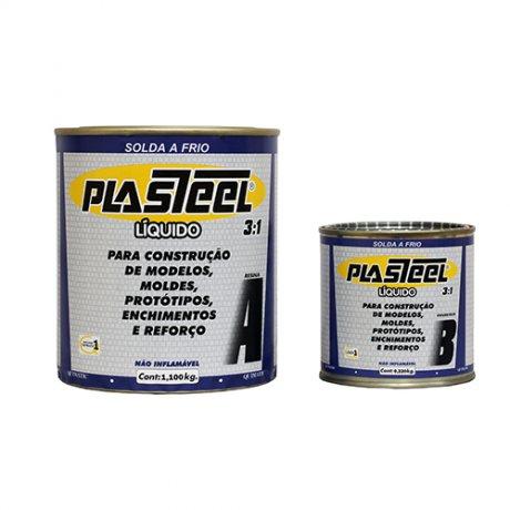 Solda a frio Plasteel L�quido 3:1 - 1,32 Kg - PL2 - Tapmatic