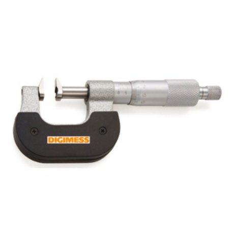 Micrômetro Externo para Ressaltos e Dentes de Engrenagens - 0-25mm - Leit. 0,01mm - Digimess