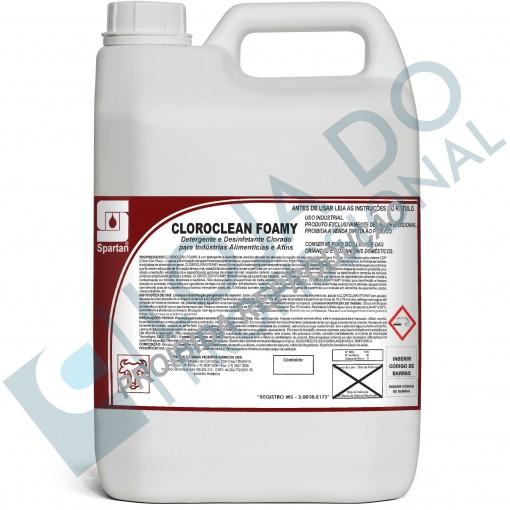 Detergente Desinfetante - CLOROCLEAN FOAMY - 5 Litros - Spartan