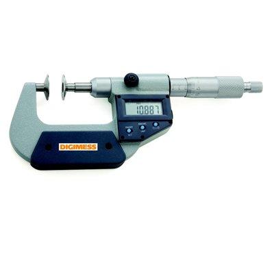 Micrômetro Digital (Dentes de Engrenagens) -  Leit. 0,001mm - 0-25mm - Digimess