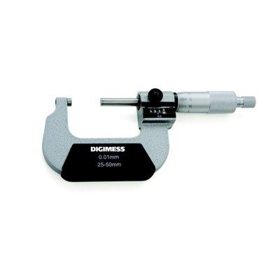 Micrômetro Externo (Contador Mecânico) - 0-25mm - Leit. 0,01mm - Digimess