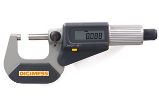 Jogo de Micrômetros Externos Digitais IP40 (3 peças) - 0-75mm - Leit. 0,001mm - Digimess