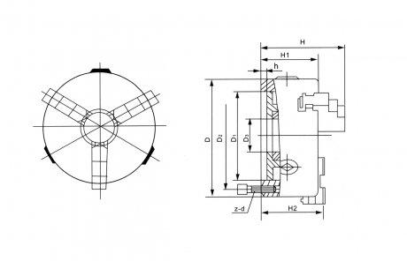 Placa para Torno com 3 Castanhas Universais (Ferro Fundido) - 80mm - Champion Tools