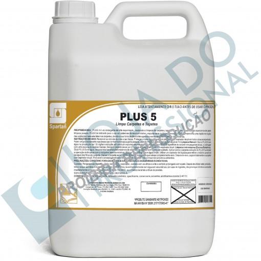 Shampoo para Carpetes - Plus 5 - 5 Litros - Spartan