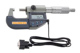 Jogo de Micrômetros Externos Digitais IP54 (3 peças) - 0-75mm - Leit. 0,001mm - Digimess