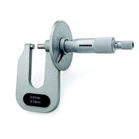 Micr�metro Externo com Disco para Medi��o de Chapas (Pontas Planas) - 0-15mm - Leit. 0,01mm - Digimess