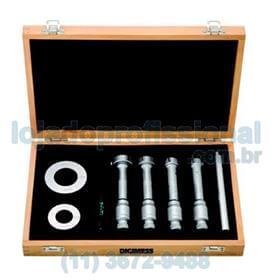 Jogo de Micrômetros Internos com Três Pontas de Contato (6 peças) - 40-100mm - Leit. 0,005mm - Digimess