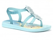 Sandalia Grendene Frozen Azul Prata 25927