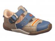 Sandalia Kidy estilo Sandatênis Taupe Azul 008-0415