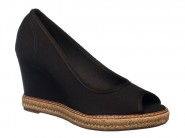 Sapato Beira Rio Peep Toe Anabela