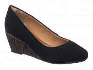 Sapato Dmoon Anabela Preto 855.16