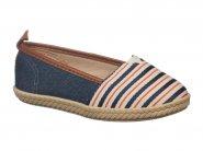 Sapato Molekinha Jeans Listrado Marinho 2116.100