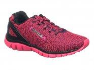 Tenis Kidy Running Preto Pink HOOX 129-1131