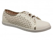 Tenis Mississipi Sport Chic Trusho Branco Ouro X5683