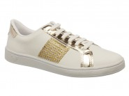 Tenis Mississipi Sport Chic Trusho Branco Ouro X6022