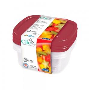 Imagem do produto - Kit Potes 580 ml - 3 un. | Clic