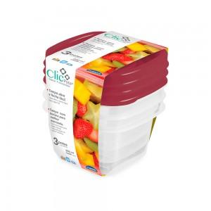 Imagem do produto - Kit Potes 200 ml - 3 un. | Clic
