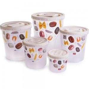 Imagem do produto - Conjunto de Potes para Mantimentos - 5 Unidades | Rosca