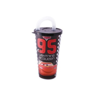Imagem do produto - Copo com Canudo 430 ml | Carros