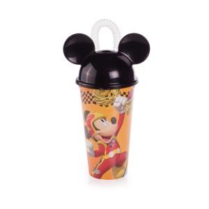 Imagem do produto - Copo com Canudo 500 ml   Mickey Roadster Racers